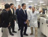 وفد الشركة الصينية يزور مصنع الكترونيات العربية للتصنيع