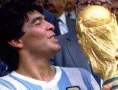 مارادونا مع كأس العالم