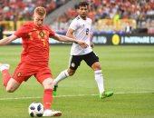 جانب من مباراة مصر وبلجيكا الودية