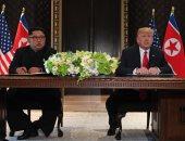 الرئيس الأمريكى دونالد ترامب وكيم جونج أون زعيم كوريا الشمالية