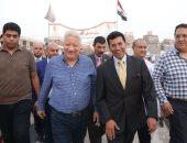 أشرف صبحى وزير الرياضة في زيارته لنادى الزمالك