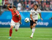 جانب من مباراة مصر وروسيا فى كأس العالم