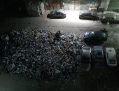 انتشار القمامة بالشارع