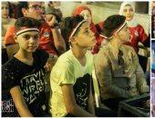 الأطفال يشجعون المنتخب