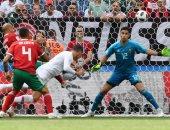 رونالدو لحظة تسجيل هدف الفوز للمنتخب البرتغالى