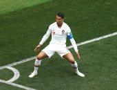 رونالدو وفرحة هدف الفوز على المغرب
