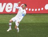 رونالدو يحتفل بهدف الفوز فى المغرب