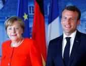 الرئيس الفرنسى إيمانويل ماكرون والمستشارة الألمانية أنجيلا ميركل