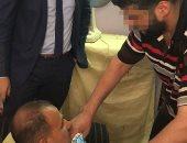 قاتل زوجته يمثل ارتكابه الجريمة أمام أحمد طنطاوي وكيل النيابة