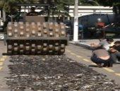 الشرطة البرازيلية تتخلص من آلاف قطع السلاح الفاسدة