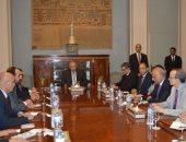 وزير الخارجية فى استقبال وفد هيئة التفاوض