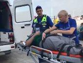 المشجع المكسيكى بعد إصابته