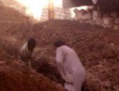 توصيل الصرف لشارع عارف منصور بسوهاج