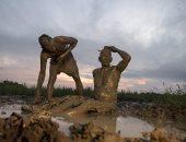 انطلاق مهرجان الطين فى الفلبين
