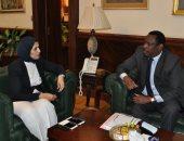 الدكتورة هالة زايد وزيرة الصحة تستقبل نظيرها السودانى