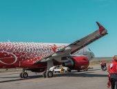 الطائرة التى استقلها المنتخب للانتقال من جروزنى إلى فولجوجراد