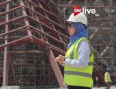 المهندسة يمنى إسماعيل عضو اللجنة الهندسية بالمتحف المصرى الكبير