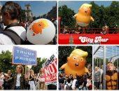 بالون برتقالى على شكل ترامب
