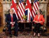 رئيسة الوزراء البريطانية وترامب