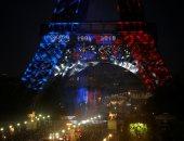 برج إيفل يحتفل بفوز فرنسا بالمونديال