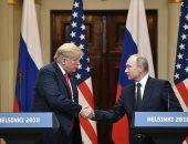 ترامب خلال قمته مع بوتين