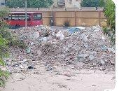 جانب من مخلفات المبانى والقمامة