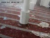 لحظة قصف مسجد الشيخ زايد