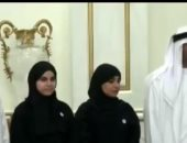 لحظة تكريم الطالبة المصرية
