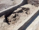 المقابر بعد تضررها من المياه