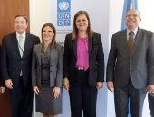 الوزراء المصريين خلال لقاء الامم المتحدة