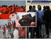 إسبانيا تحتجز مئات المهاجرين فى ميناء ملقة البحرى
