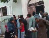 سقوط سيدات خلال تسلم لحوم من جمعية