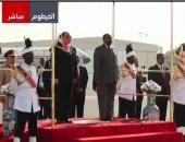 مراسم استقبال الرئيس السيسي فى الخرطوم