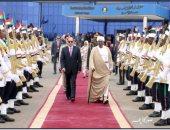 مراسم رسمية فى وداع الرئيس عبد الفتاح السيسى بمطار الخرطوم