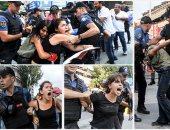 شرطة أردوغان تسحل الفتيات وسط أنقرة لتفريق مظاهرات سلمية