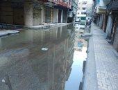 مياه الصرف بشارع مسجد التيار بالإسكندرية