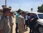 مدير أمن القليوبية مع أفراد الحملة الأمنية بمركز الخانكة