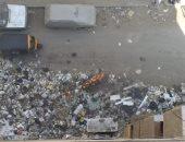 تراكم القمامة بشارع العروبة فى الوراق