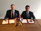 توقيع الإتفاقية بين ناسا والإمارات