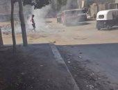 حرق القمامة بشارع بيجام فى شبرا الخيمة