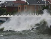 الإعصار أمبيل يضرب مدينة تشينجداو