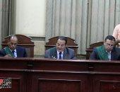 المستشار جعفر نجم الدين رئيس محكمة جنايات القاهرة وهئية المحكمة