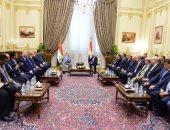 الرئيس اليمنى عبد ربه منصور وعلى عبد العال رئيس مجلس النواب