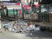 انتشار القمامة امام سكك حديد طنطا