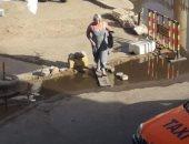 غرق شارع فى الغردقة بمياه الصرف الصحى