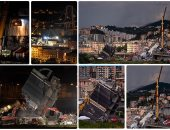 إيطاليا تواصل رفع أنقاض الجسر المنهار