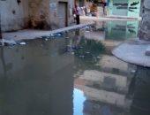 مياه الصرف تغمر منطقة العجمى بالإسكندرية