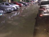 """مياه الصرف تغرق المنطقة """"ع"""" بهضبة الأهرام"""