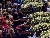 جنازة ضحايا جسر جنوة