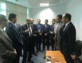 وزير التموين خلال زيارته لمقر جهاز حماية المستهلك